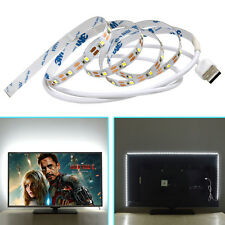 USB LED Strip SMD2835 5V Not Waterproof Holiday Lights TV Back Lighting 1M White