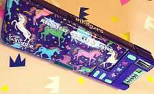 LATEST! SMIGGLE GIRL'S POP OUT PENCIL CASE PENCILCASE WITH CALCULATOR - UNICORNS