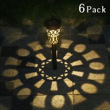 6Pcs Solar Lights Outdoor Garden Stake Lamps Pathway Lantern Landscape Courtyard