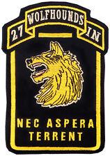 Hook & Loop 27th Infantry Regiment Wolfhound patch - Vietnam Iraq - Afghanistan