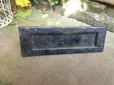 Vintage metal shabby letter box/plate 264mm x 78mm