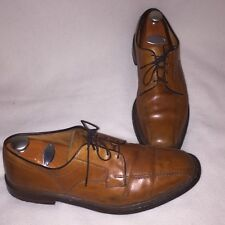 Allen Edmonds Hillcrest Mens Oxford Shoes Size 11.5D Light Brown Walnut Leather
