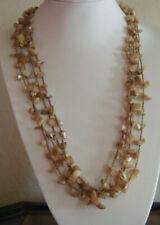 Natural Shell Stone Bead String Necklace Tribal, Surf, Beach, Hippy, Boho