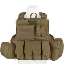 Flyye Army Force Recon Range Vest MOLLE System + Full Pouches Set Coyote Brown