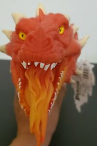 New Schylling Red Dragon Fire Breathing Soft Rubber Hand Puppet 🔥