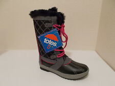 NEW GIRLS TOTES SABRINA PINK BLACK FAUX FUR WINTER SNOW BOOTS 12 TODDLER $59.99