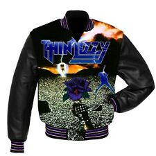 RARE Thin Lizzy full print Jacket with leather sleeves  all sizes