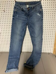 Justice Girls Size 16 Jeggings Denim Mid Rise Stretchy  Some Distressing