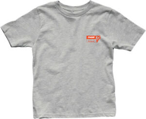 Thor 2020 Youth Boys' Musquin 25 T-Shirts Dark Heather Gray All Sizes