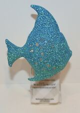 BATH & BODY WORKS BLUE SPARKLY GLITTER FISH WALLFLOWER FRAGRANCE PLUG IN HOLDER