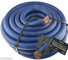 0 Gauge 25' Wire HyperFlex Amplifier Blue Ga 1/0 Amp Power/ Ground Cable 25 Ft