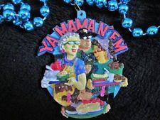 "Nawlins ""Ya Mama N'Em"" Mardi Gras Necklace Bead Food Platters Saints Cap (B691)"