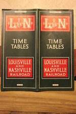 LOUISVILLE AND NASHVILLE RAILROAD PUBLIC TIMETABLE AUGUST 1,1939-NEAR MINT