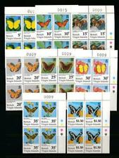VIRGIN ISLANDS 711-718 MINT NH BLOCKS OF 4 BUTTERFLIES