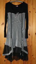 Joe Browns Kleid, Lagenlook Gr. 42, grau schwarz