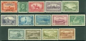 EDW1949SELL : CANADA Nice group of all different Very Fine, Mint OG. Sc Cat