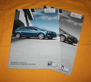 Hyundai I40 2011 Prospekt Brochure Depliant Prospetto Catalog Folder Broschyr