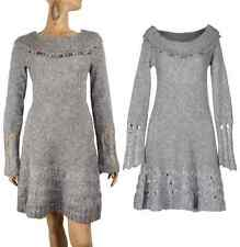 SAVE THE QUEEN SWEATER DRESS MOHAIR WOOL LONG SLEEVE EMBELLISHED sz L LARGE