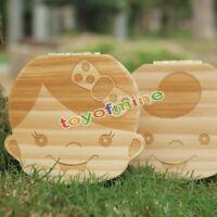 Personalizado madera bebé Hada De Los Dientes Caja Niño/Niña caja Funda