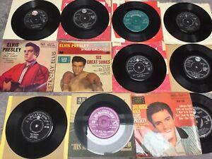 "ELVIS PRESLEY JOB LOT OF 11 SINGLES/EP'S 7"" VINYL RECORD ORIGINAL 60's PRESSINGS"