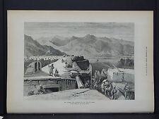Illustrated London News Full Page B&W S6#100 Jan 1879 Afghan War: Fort at Dakka