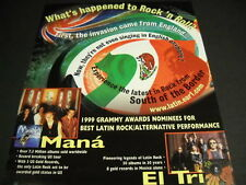 MANA and EL TRI What's Happened To Rock N Roll 1999 PROMO POSTER AD mint cond