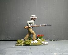 1/32 CONFEDERATE SOLDIER #9 - Hand Painted Based- 54mm    Plastic -   ACW - AIP