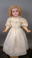 """Beautiful Kestner 167 23"""" Antique Bisque Doll on Marked Body in Antique Dress"""