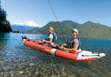 Intex Excursion Pro K2 Inflatable Red Fishing Kayak with oars and pump