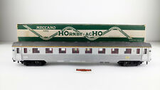 HORNBY-MECCANO H0 - CAR PASSENGERS INOX 1ª CL OVP