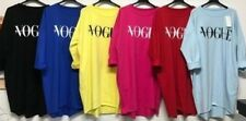 Womens Vogue Slogan Print Oversized Sweatshirt Jumper Baggy High Low Dress Top
