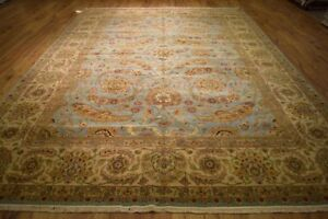 Vegetable Dyed Light Blu New Oushak Handmade 10 x 14 Blue Distinctive Carpet Rug