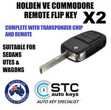 2 HOLDEN VE COMMODORE HSV OMEGA SSV SV6 REMOTE KEYS WITH TRANSPONDER 2006 - 2013