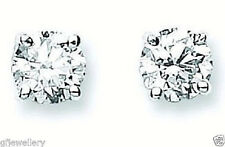 18CT HALLMARKED WHITE GOLD 1.00CT G/H SI1 DIAMOND SOLITAIRE STUD EARRINGS