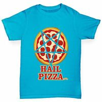 Twisted Envy Boy's Hail Pizza Funny Cotton T-Shirt