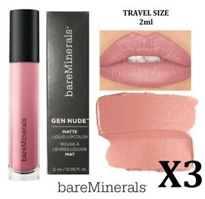 Bare Minerals Gen Nude Matte Liquid Lip - SWAG - PRICE IS FOR THREE !!