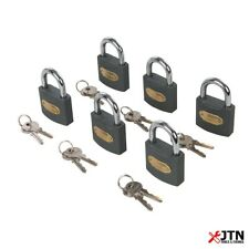 Silverline 407238 Iron Padlock Keyed Alike 50mm 6 Pack
