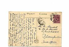 ISLD PQ & MONT. RPO on War issue post card to South Africa from Canada