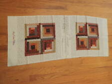 "Vtg Cut & Sew Pattern Panel makes 16"" Pillow Log Cabin Patchwork VIP Cotton   J3"
