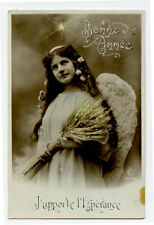c 1910 Glamor Glamour PRETTY ANGEL Angelic French photo postcard