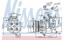 NISSENS Compresseur de climatisation 12V pour HONDA CIVIC 89247 - Mister Auto