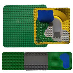 Lego Duplo 3D Platten Grundbauplatten grün rot grau 38x38 Zoo Platte