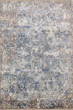 New Area Rug Carpet  5'X7' Modern Abstract Hand Knotted Silk Beige Contemporary