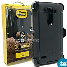 OTTERBOX DEFENDER COVER CASE FOR LG G3 RUGGED HOLSTER WITH CLIP BLACK