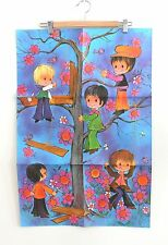 "Sheet of Vintage 1960's Hippy Boy Gift Wrap Wrapping Paper Kids 20"" x 30"" Kids"