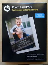 HP Photo Card Pack 10 sheets of 5x7 & 5 sheets of 4x6 glossy paper New