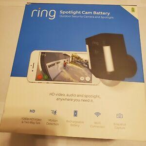 Ring Spotlight Cam  Black Battery