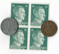 Rare Old German WWII WW2 BERLIN Germany Coin Stamp Great War Collection Lot Q43