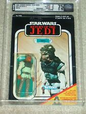 Vintage Star Wars KENNER 1983 AFA 75 NIKTO ROTJ CANADA CARD BACK MOC UNPUNCHED!!