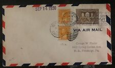 1930 Winnipeg Canada Airmail Cover To Pittsburg Pa USA